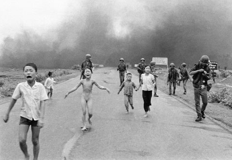 Original picture of Kim Phuc running from the Napalm bomb, ABC News