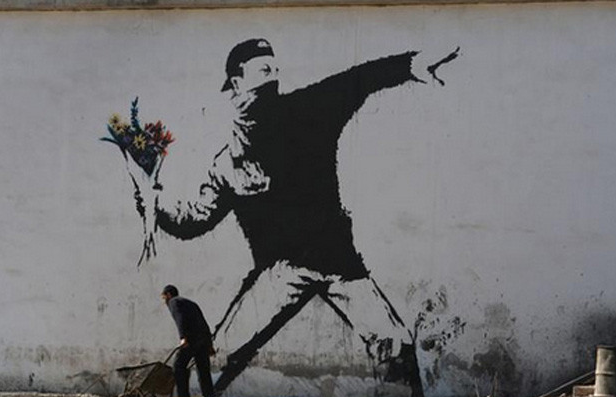 Banksy's Rage, Flower Thrower