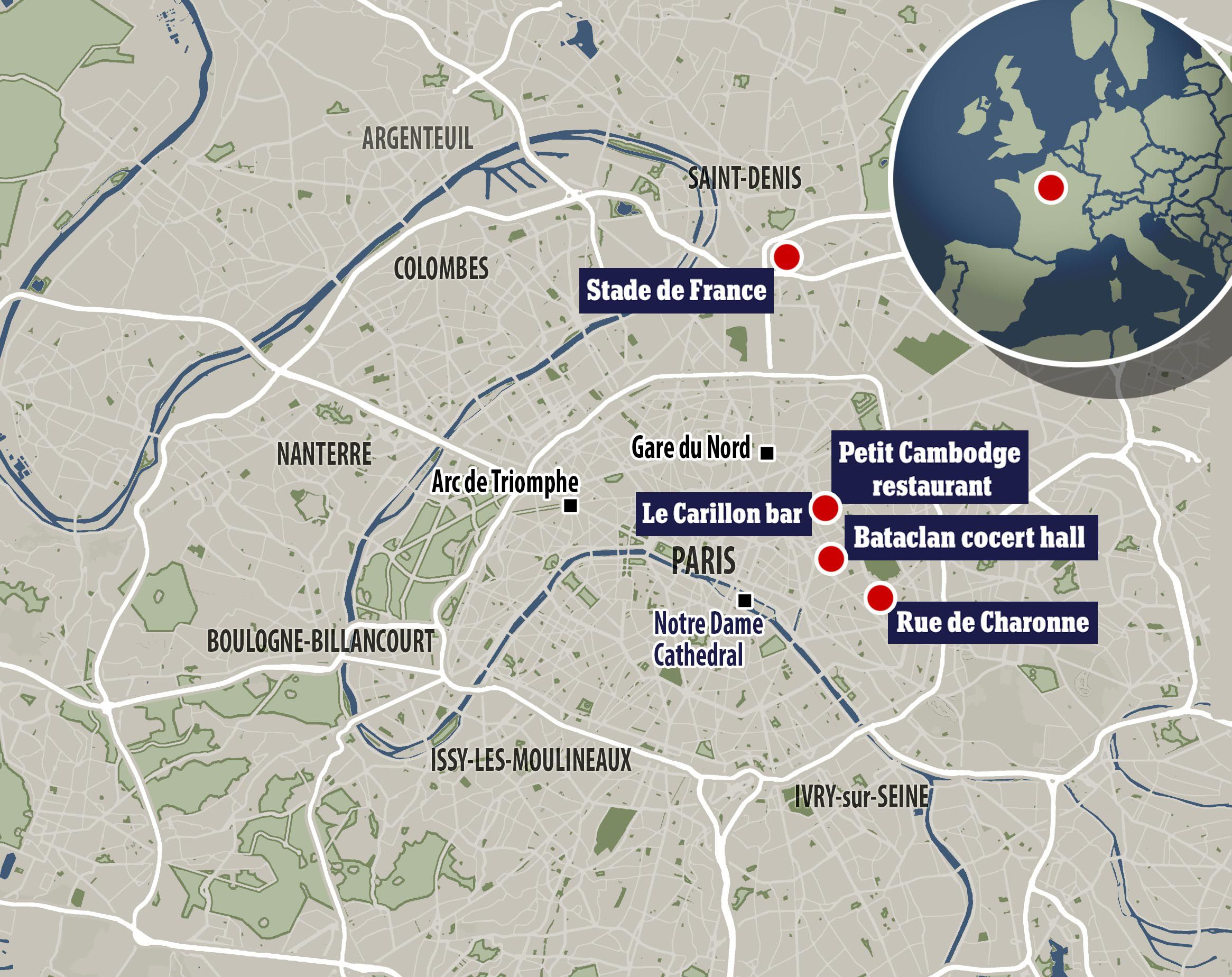 Citizen Journalism Coverage On The Paris Attacks - Paris map 2016